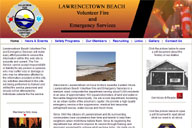 Picture of the Lawrencetown Beach Volunteer Fire and Emergency Services Website Home Page